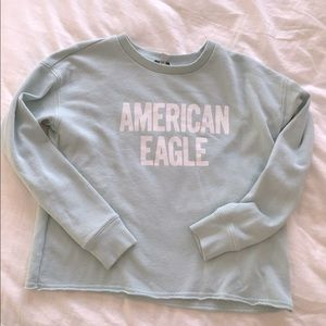 American Eagle oversized Cropped Sweatshirt